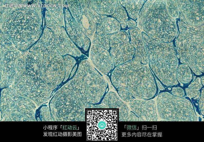 蓝绿色大理石纹路背景图片_花纹花边图片