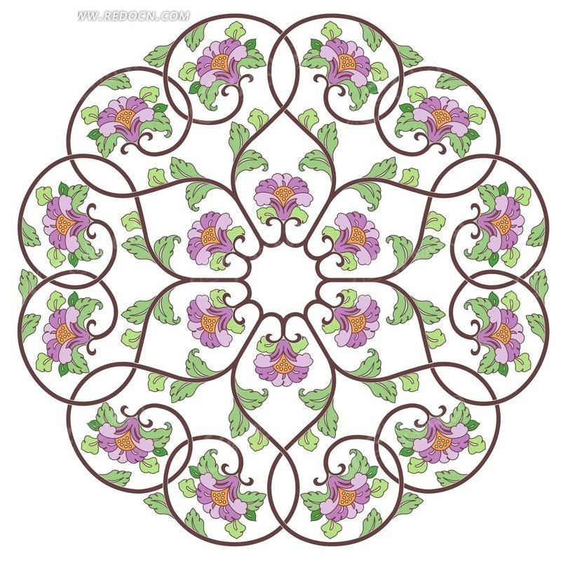 对称不规则的圆形图案花边