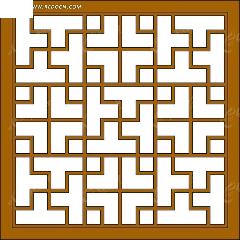 木质正方形循环对称移窗