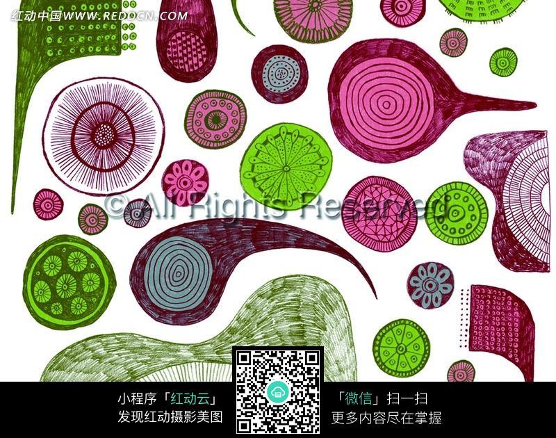 花瓣纹几何纹手绘图图片