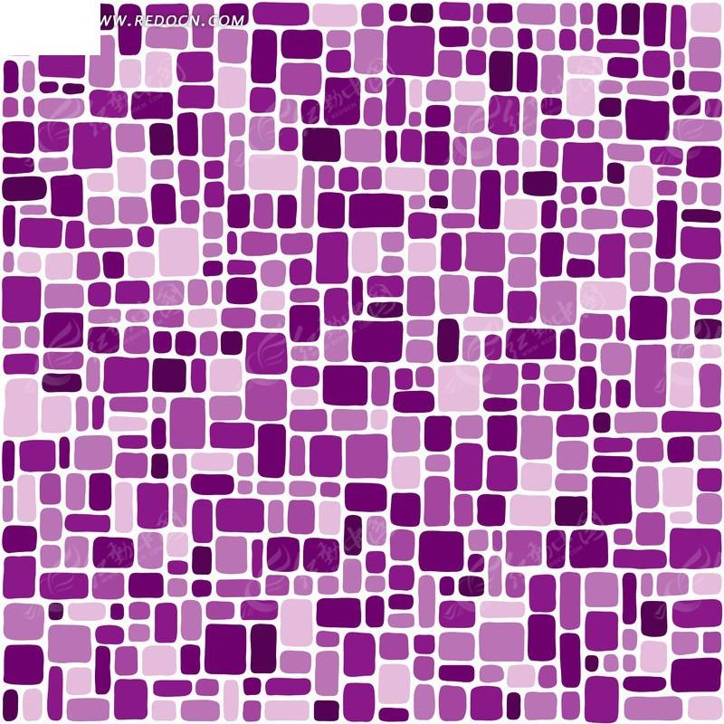 紫色几何图案矢量图_底纹背景
