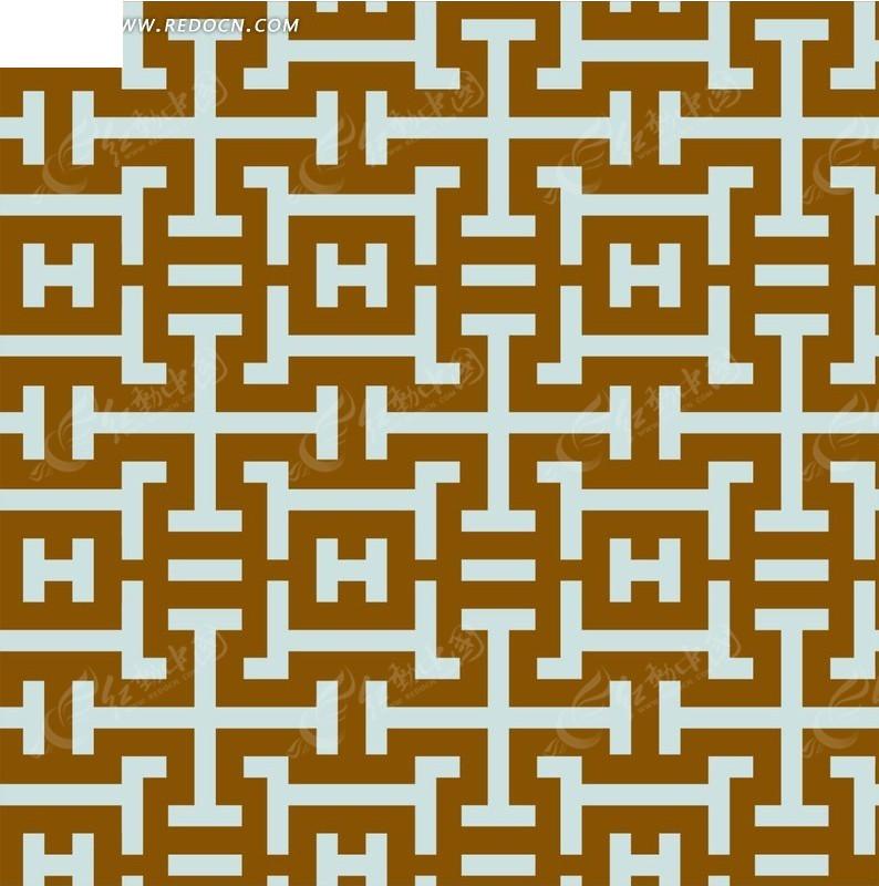 四方连续金色几何图案分层素材