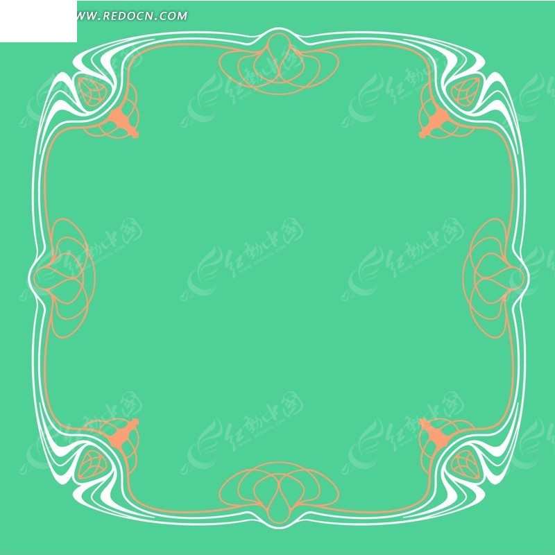 圆角 花纹 边框 花边 角花 psd素材 花纹素材 花边素材  psd分层素材