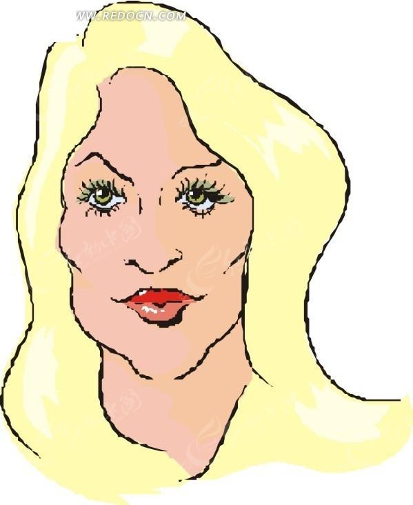 黄色头发的美女头像
