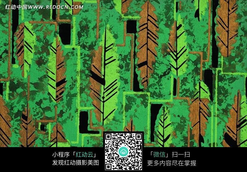 抽象线条树叶几何图形图片