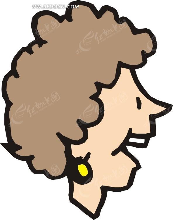 人物头像侧脸特写 美女矢量图|女人矢量图|女性