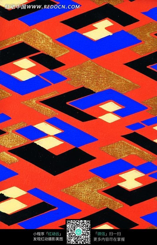 红色背景上的菱形图案图片