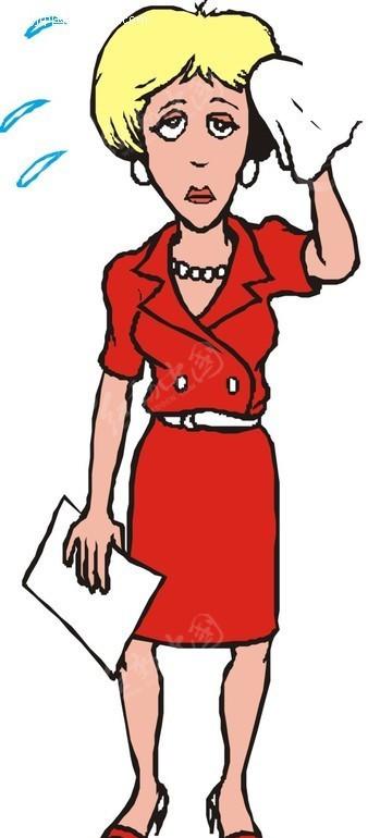 qq头像卡通中年女性