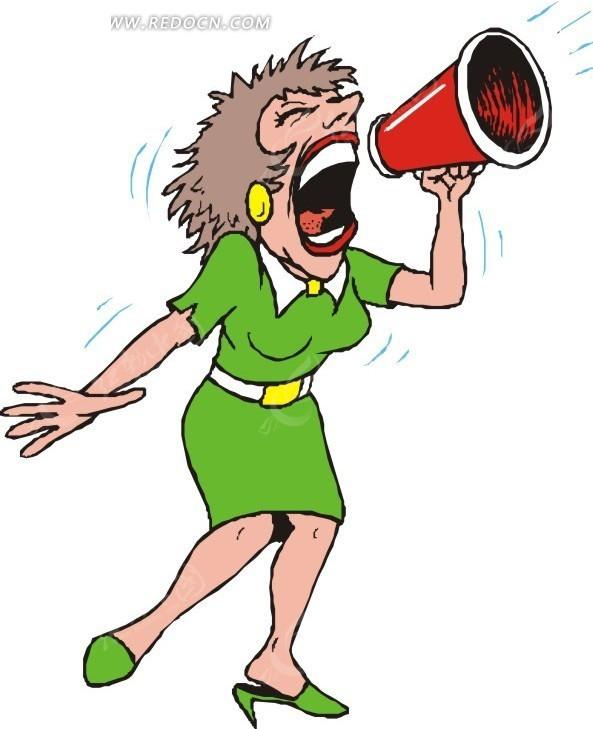 拿喇叭喊的卡通人物_卡通喊话喇叭图片图片展示_卡通喊话喇叭图片相关图片下载