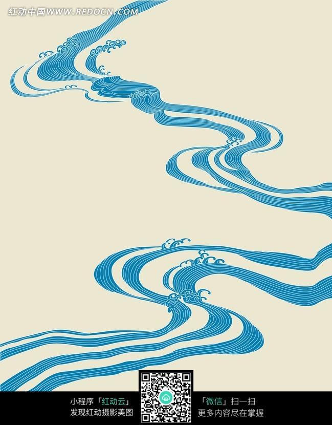 海浪设计装饰线