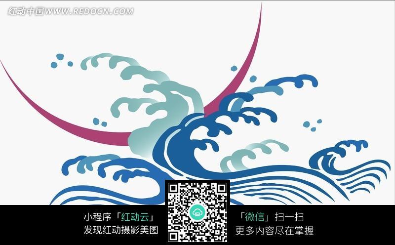 手绘激流浪花图片 花纹 花边 线条 背景图库下载 1654693