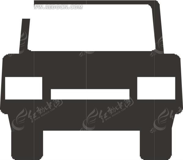 灰色汽车 汽车车头 卡通画 插画 手绘 矢量素材 交通工具 科技图片