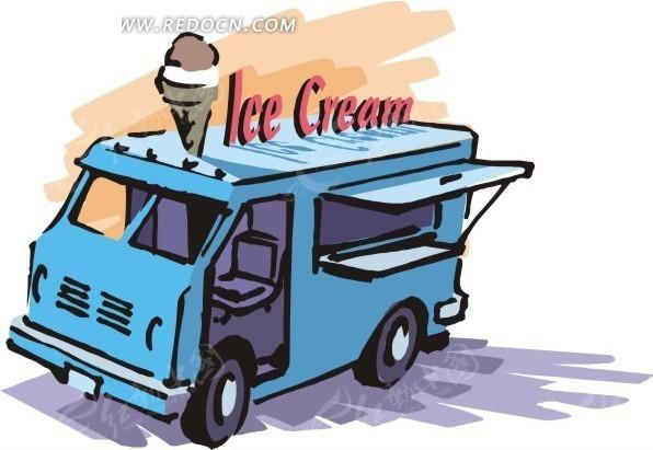 手绘移动冰淇淋店EPS素材免费下载 编号1656689 红动网