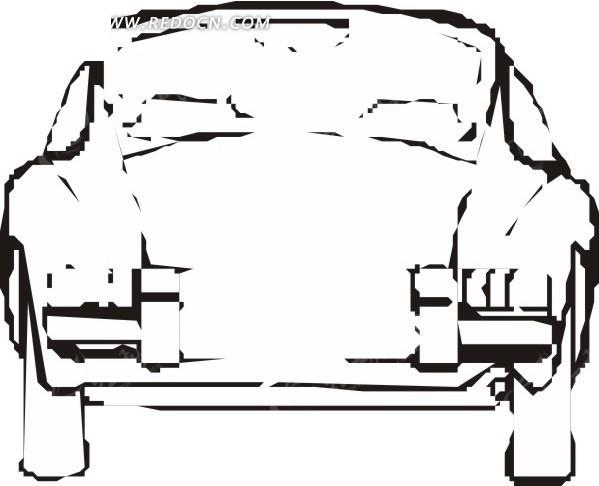 汽车正面 卡通画