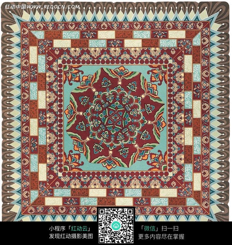 精美复古式花纹地毯图片图片