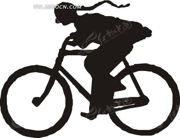 骑自行车的人物剪影