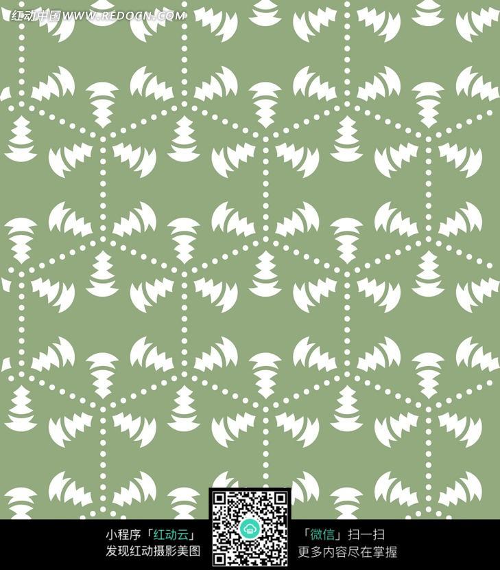 括号状花边-花纹图片 箭头 绿色背景