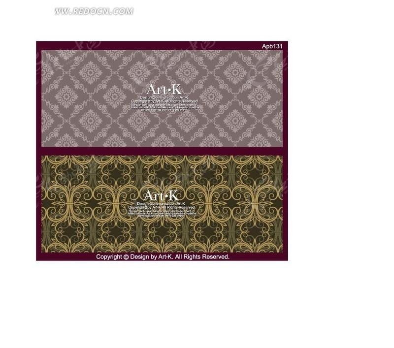 欧式 古典 花纹 底图 卡片底图