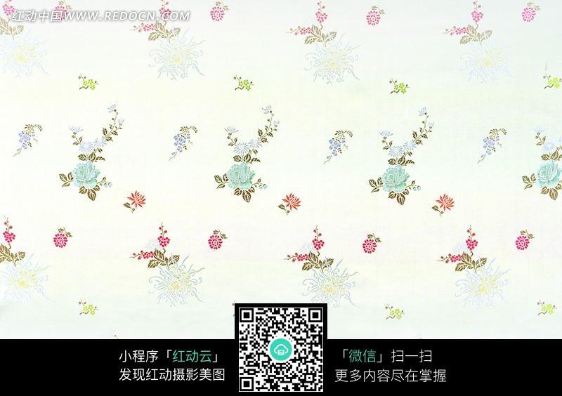 白色背景花朵花纹布料素材图片免费下载