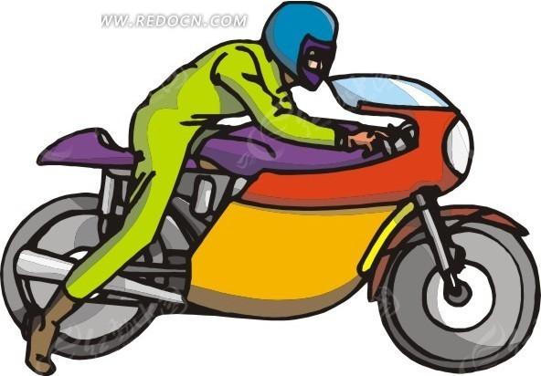 车手和摩托车