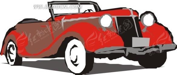 红色敞篷汽车EPS素材免费下载 红动网