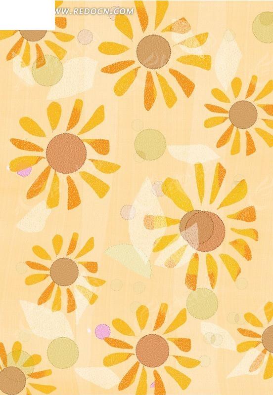 手绘温馨太阳花背景