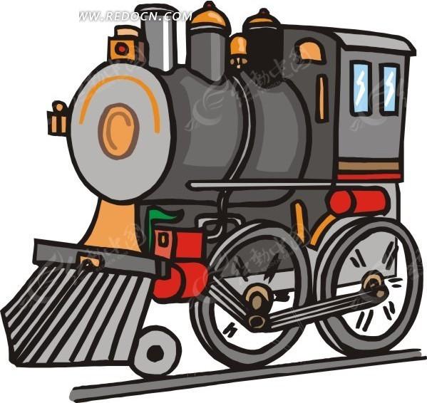 火车头卡通画图片