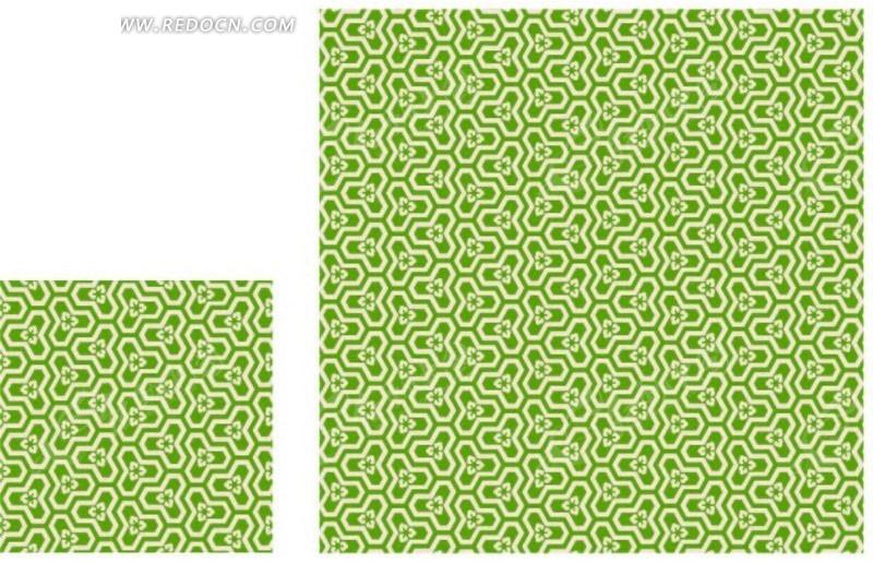 欧式绿色花纹底纹矢量图_底纹背景