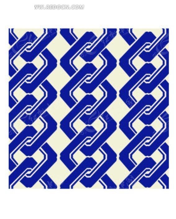 串在一起的蓝色菱形构成的图案