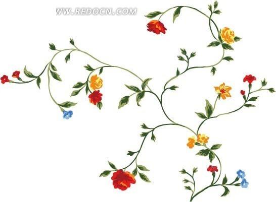可爱    手绘  蔓草   花卉  花朵   小花   花草 花纹 花纹素材 花边