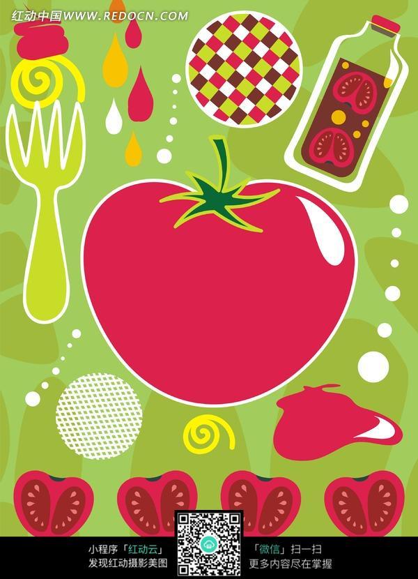 可爱卡通西红柿图片