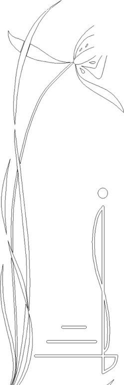 免费素材 矢量素材 花纹边框 花纹花边 缠绕的叶子和花茎上的花朵线描
