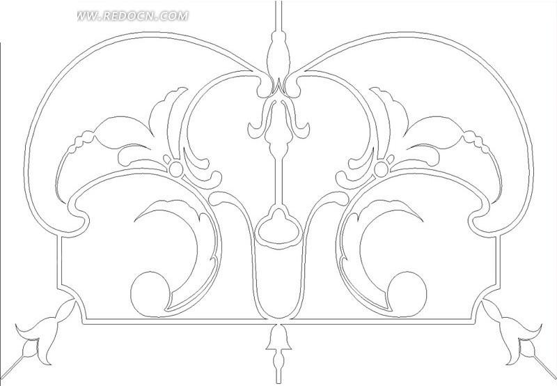 左右对称的植物线描图hpgl素材免费下载 编号1665257 红动网