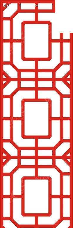 红色中式图案镂空花纹; 密度板雕花背景墙; 批发采购木质工艺品-密度