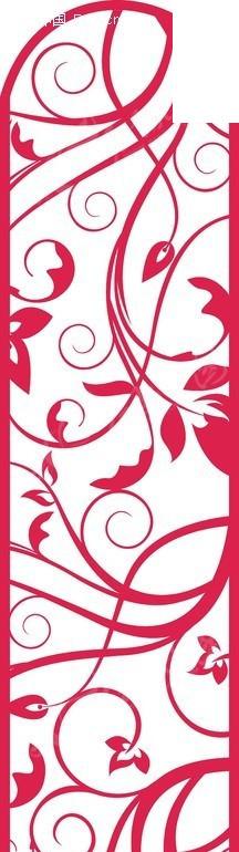 简单欧式藤蔓花边剪纸