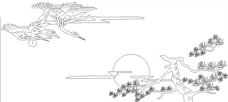 松树手绘矢量图