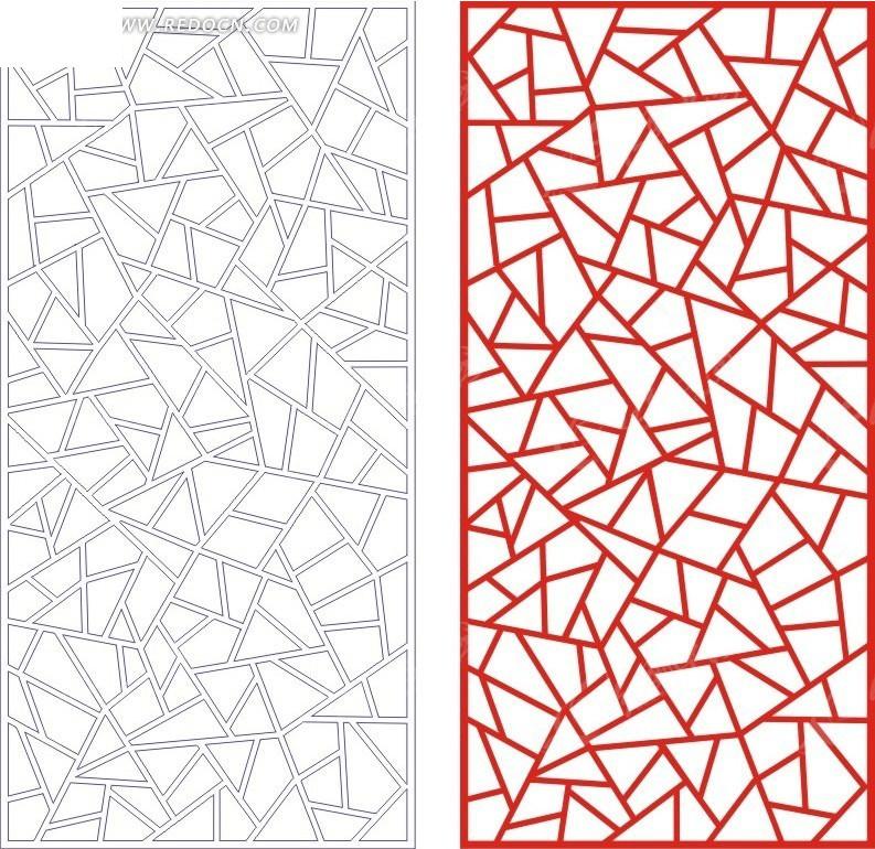 红色 欧式 图案 镂空花纹 花纹隔断 窗格 装饰花纹 时尚花纹 矢量花纹