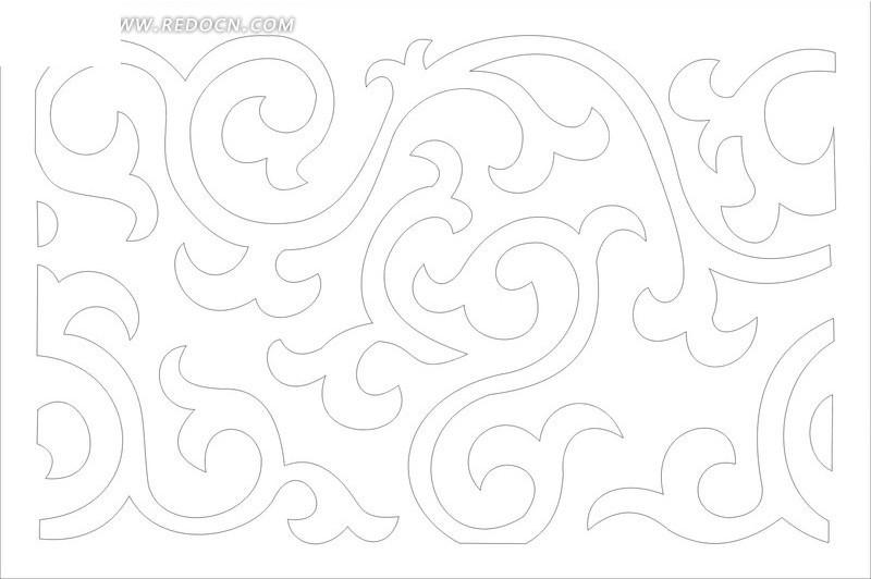 白色背景 动感曲线花纹 创意花纹底纹 插画 花纹 花纹素材 花边 花边图片