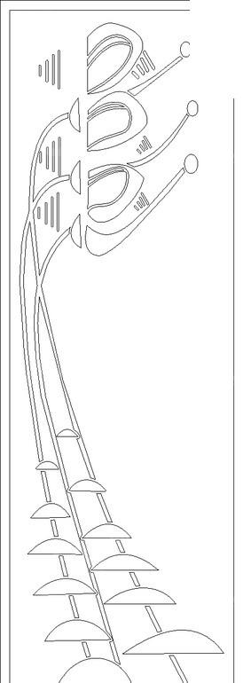 黑色 线条画 几何线 抽象 小号 乐器 花纹 黑白花纹 线描花纹 移门