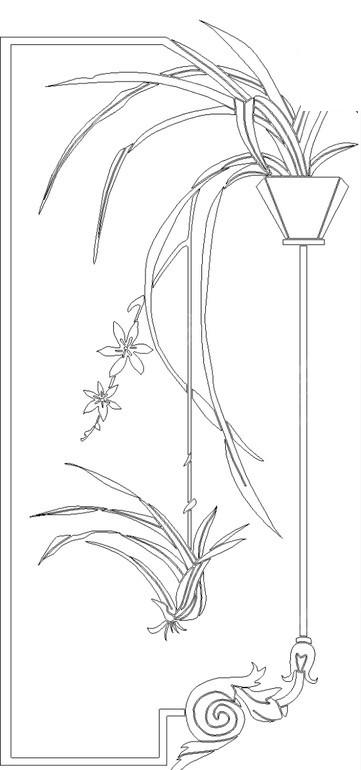 免费素材 矢量素材 花纹边框 其他 手绘兰花矢量图  请您分享: 素材