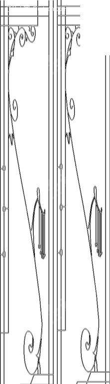 卷曲的藤蔓和线条构成的黑白图案