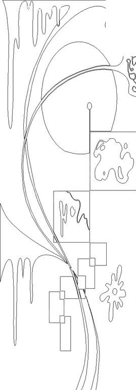 曲线/不规则形/线条构成的黑白图案