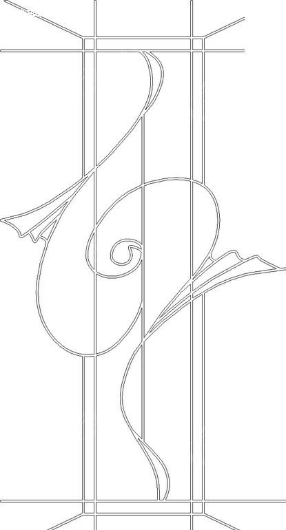直线和曲线构成的花纹图片