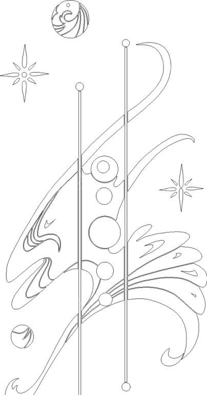 圆形/直线/曲线构成的花纹图片