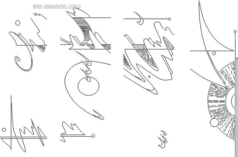 免费素材 矢量素材 花纹边框 其他 简单线条和图形组成的涂鸦