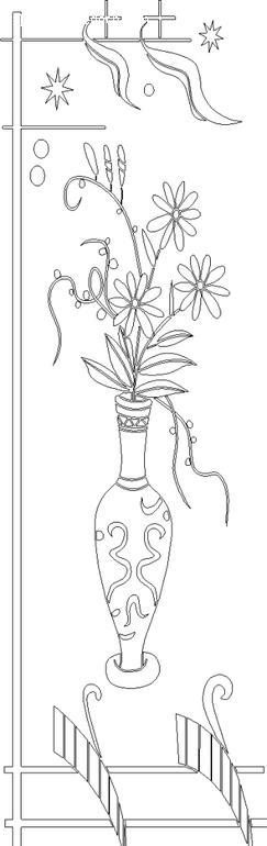 矢量手绘花瓶花朵插画线条_乐乐简笔画