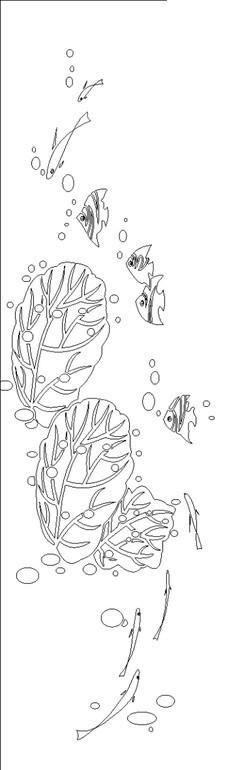 海藻简笔画步骤图