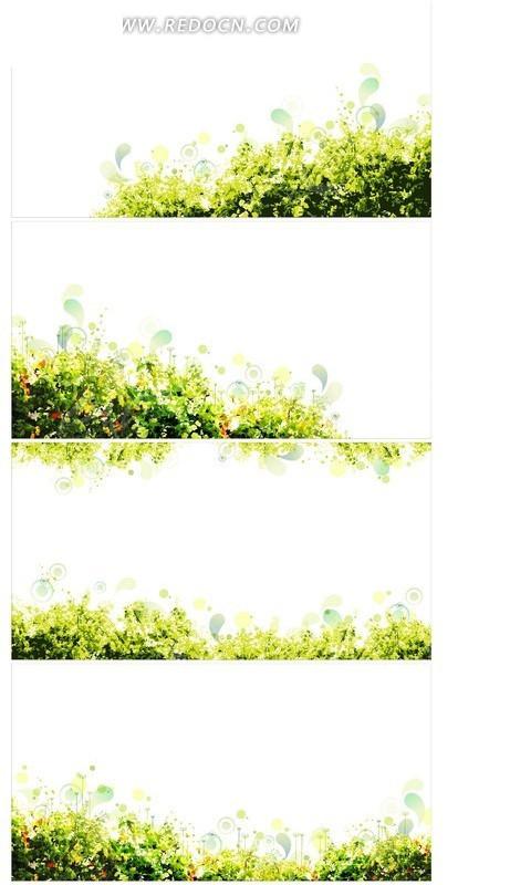 手绘花朵草丛花纹背景