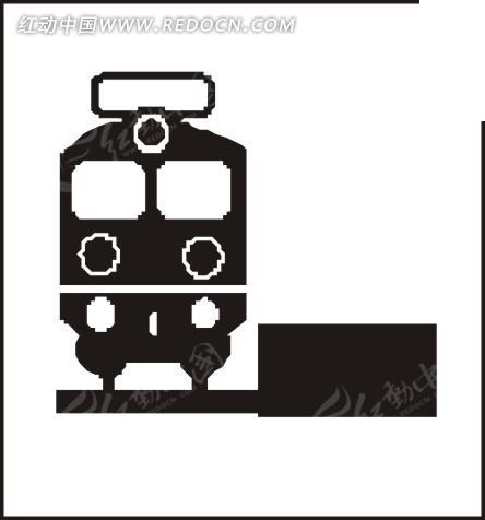卡通火车插画 卡通火车图案儿童服饰设