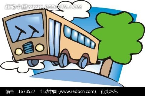 卡通大巴车